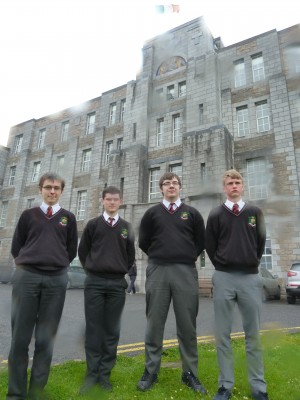 Best Leaving Certificate based on Mock Results: Christopher Finn, Donal Conneely, Keith Daly, Rory Owens