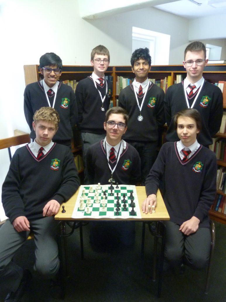 National Junior Chess Silver Medallists Back: Abhi Sangani, Hubert Matuszewski, Sai Shreyas, Jarek Janos Front: Andrejs Kozlovs, Pedro Gil Queresma, Zalan Nemeth