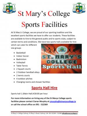 Sportshall Rental